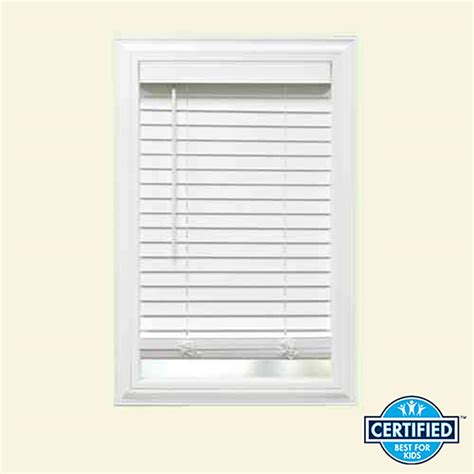 Home Decorators Collection Faux Wood Blinds by Home Decorators Collection Cut To Width White Cordless 2 In Faux Wood Blind 35 In W X 64 In