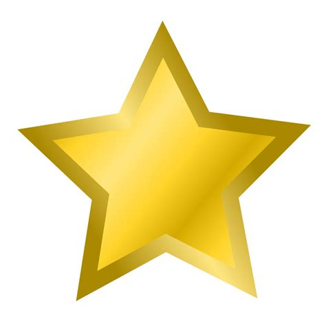 printable star clip art star free stock photo illustration of a gold star