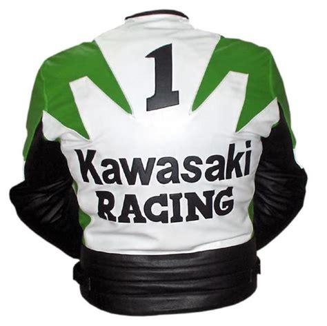 Motorrad Lederjacke Gr N by Kawasaki R Rennsport Motorrad Lederjacke Gr 252 N Wei 223 Und