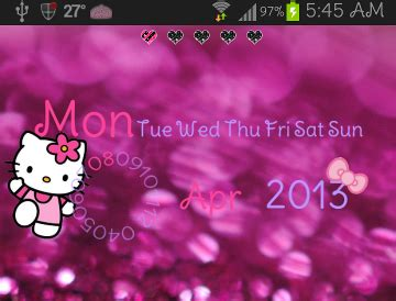 uccw hello kitty themes pretty droid themes hello kitty date widget uccw