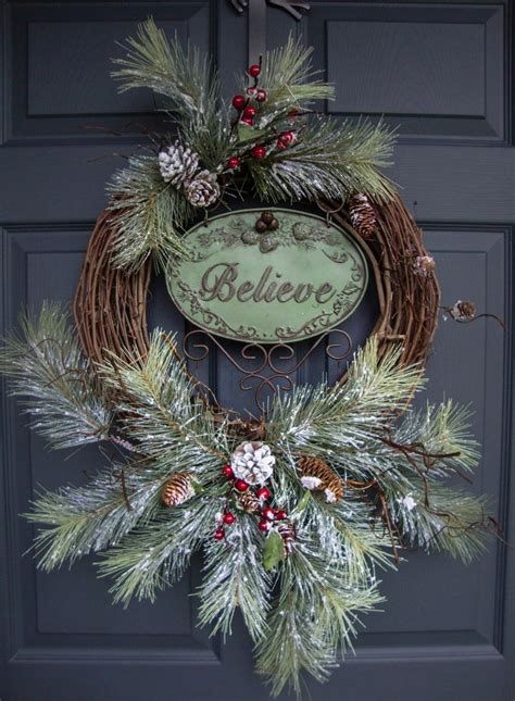 rustic christmas wreaths  outdoor holiday