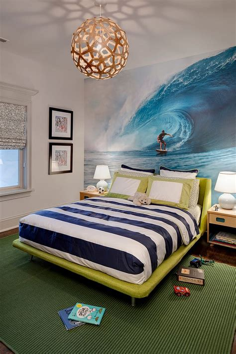 surf theme bedroom 21 creative accent wall ideas for trendy kids bedrooms