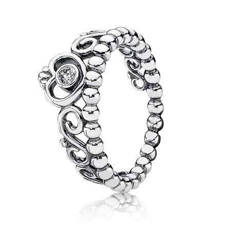 princess stackable ring clear cz pandora jewelry us