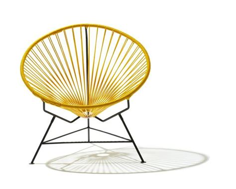 Outdoor Saucer Chair by Acapulco Chair Saucer Yellow Occasional Chairs