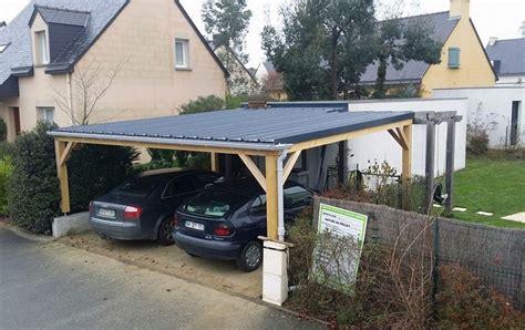 Quart Port Pour Voiture by Carport Bois Rennes Abris Voiture Garage Pose Cr 233 Ation