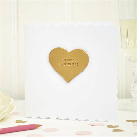 Wedding Card Lewis by Personalised Wedding Card By Parkin Lewis