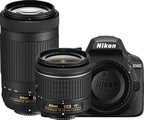 nikon  dslr camera body  dual lens af p dx