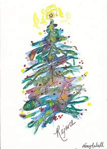 rejoice christmas tree painting by michele hollister for nancy asbell