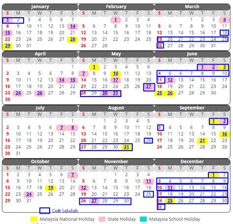 Kalender 2018 Cuti Sekolah Kalendar Cuti Sekolah 2017 Malaysia Xpresi
