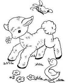 easter colouring spring lamb and duckies easter colouring