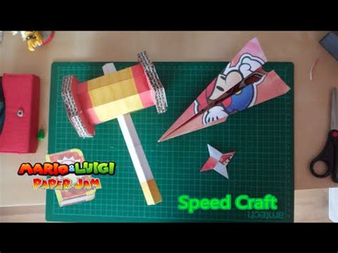 How To Make Paper Mario - trio attack hammer papercraft plane shuriken mario