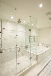 marble tile bathroom ideas master bathshower designs transitional bathroom meredith heron design