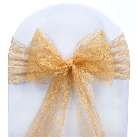 wedding chair bows lace 10 wedding lace chair sashes bows ties reception