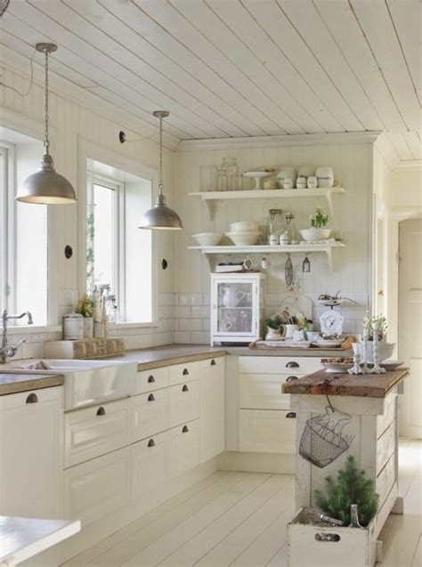 Merveilleux Deco Cuisine Campagnarde #1: d588ef0aba72c27316841acfde54ab2c--white-farmhouse-kitchens-country-kitchens.jpg
