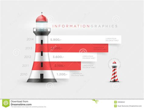design a st template lighthouse infographic stock photo image of design