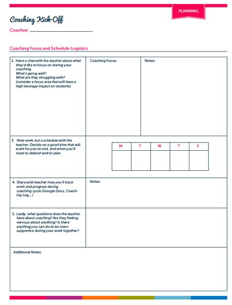 coaching record template coaching tools ms houser