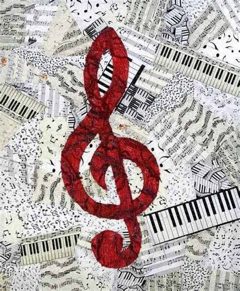 collage music paper music note collage art activities pinterest