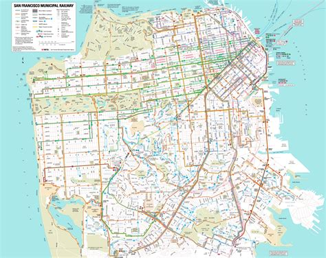 map of san francisco san francisco transit through a visitor s just call