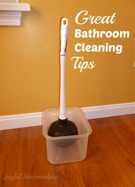 tips cleaning bathroom bathroom cleaning tips joyful homemaking