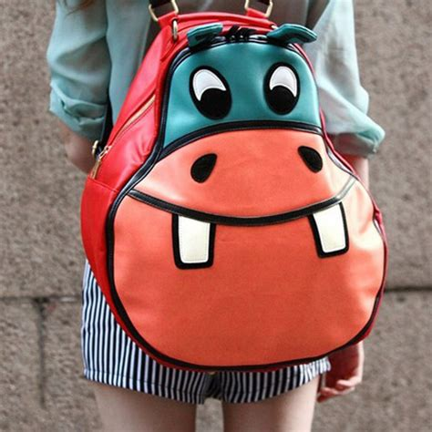 Hippo Backpack free shipping fashion hip hop personality hippo backpack