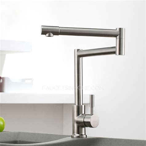high end kitchen faucets high end stretch stainless steel brushed nickel kitchen