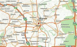 Worms Germany Map by Worms Location Guide
