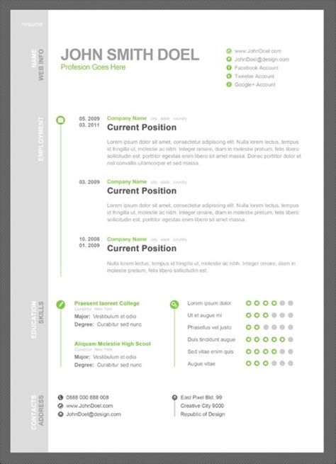 stand out resume templates phuket resume collection and creative design 30 amazing