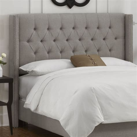 gray tufted headboard king 25 best ideas about grey upholstered headboards on