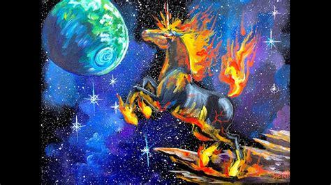 acrylic paint tutorial galaxy beginner acrylic painting tutorial galaxy unicorn