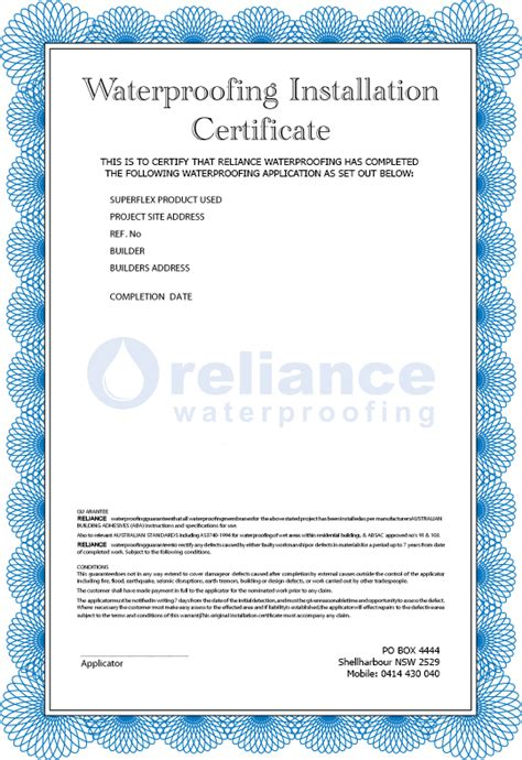 alarm installation certificate template certificate of installation template 28 images
