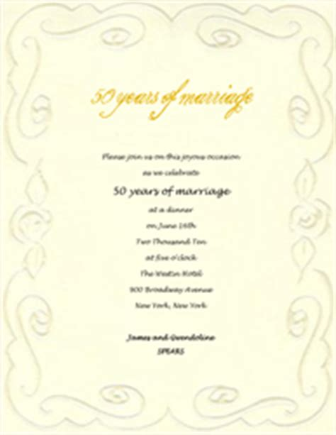 50th anniversary invitation templates free free wedding anniversary templates clip and wording