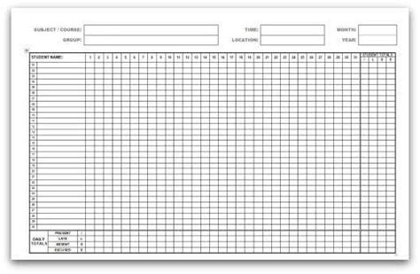9 Monthly Attendance Sheet Templates Excel Templates Attendance Sheet Template Excel