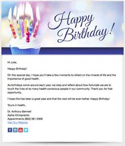 patient birthday emails patients chiropractic