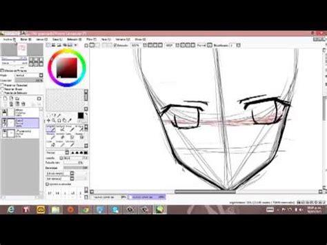 paint tool sai 2 animation tutorial dibujo rostro anime parte 2 paint tool sai