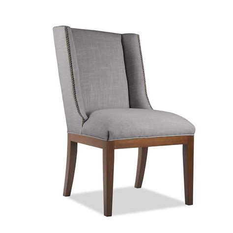 linen chair nadina linen dining chair with nail heads