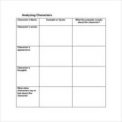 character analysis template sle character analysis template 10 free documents in