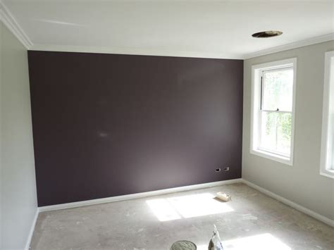 Purple Feature Wall Bedroom by Grey Purple Guest Bedroom For The Home