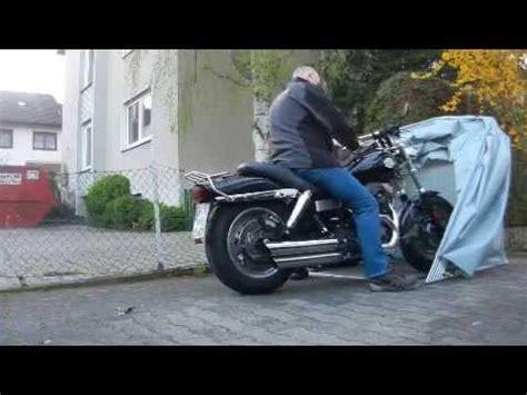 Aldi Motorradgarage by Motorrad Garage Schutzplane Zelt Youtube