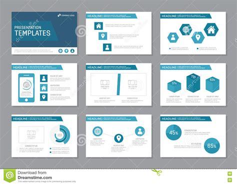 Slides Book Report Template Set Of Blue Template For Multipurpose Presentation Slides