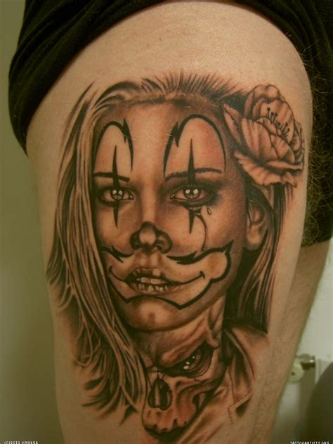 tattoo lady joker clown make up gladys alvarez chicano tatoos boog