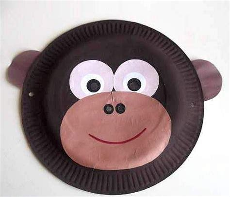 Mask With Paper Plates - best 25 monkey mask ideas on