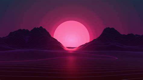 neon sunset  wallpaper