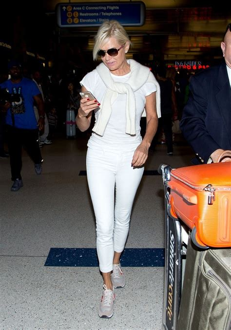 white jeans like yolanda foster yolanda foster photos photos yolanda foster at lax zimbio