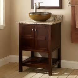 24 quot everett vessel sink vanity wenge bathroom