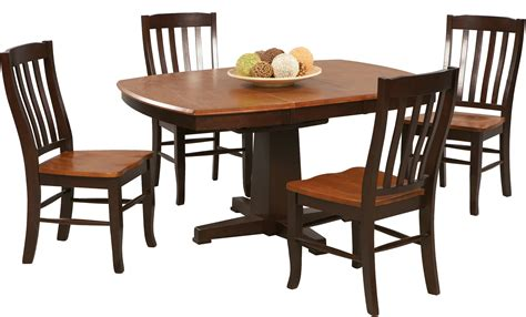 Winners Only Dining Table 57 Quot Pedestal Table With 15 Quot Butterfly Leaf By Winners Only Horton S Furniture And Mattress