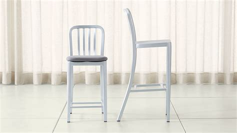 Aluminum Bar Stools Crate And Barrel delta aluminum bar stools and cushion crate and barrel