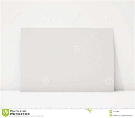 poster design horizontal mock up blank horizontal poster on the white wall and the