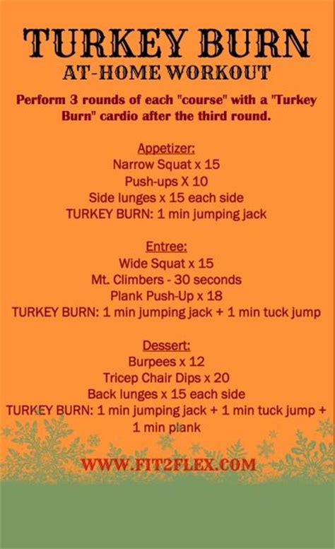 fit2flex turkey burn workout bad boot c
