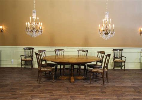 extra large round dining room tables baroque expandable round dining table in dining room