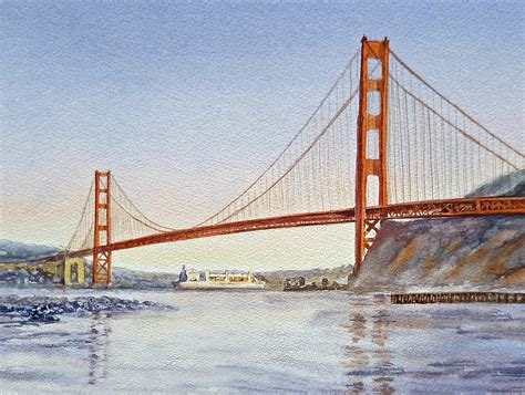 san francisco california golden gate bridge painting by irina sztukowski